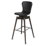 Shell Bar Stool | Ultra Black | 69 cm