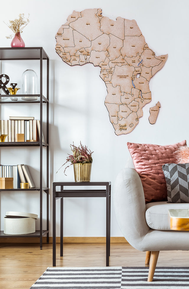 puzzle africa wall-mounted