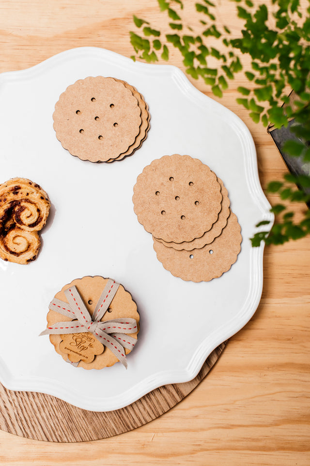 coaster biscuit (set of 6)