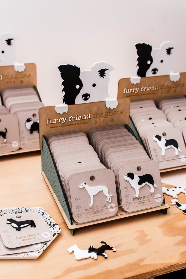 furry friends fridge magnets - doggies