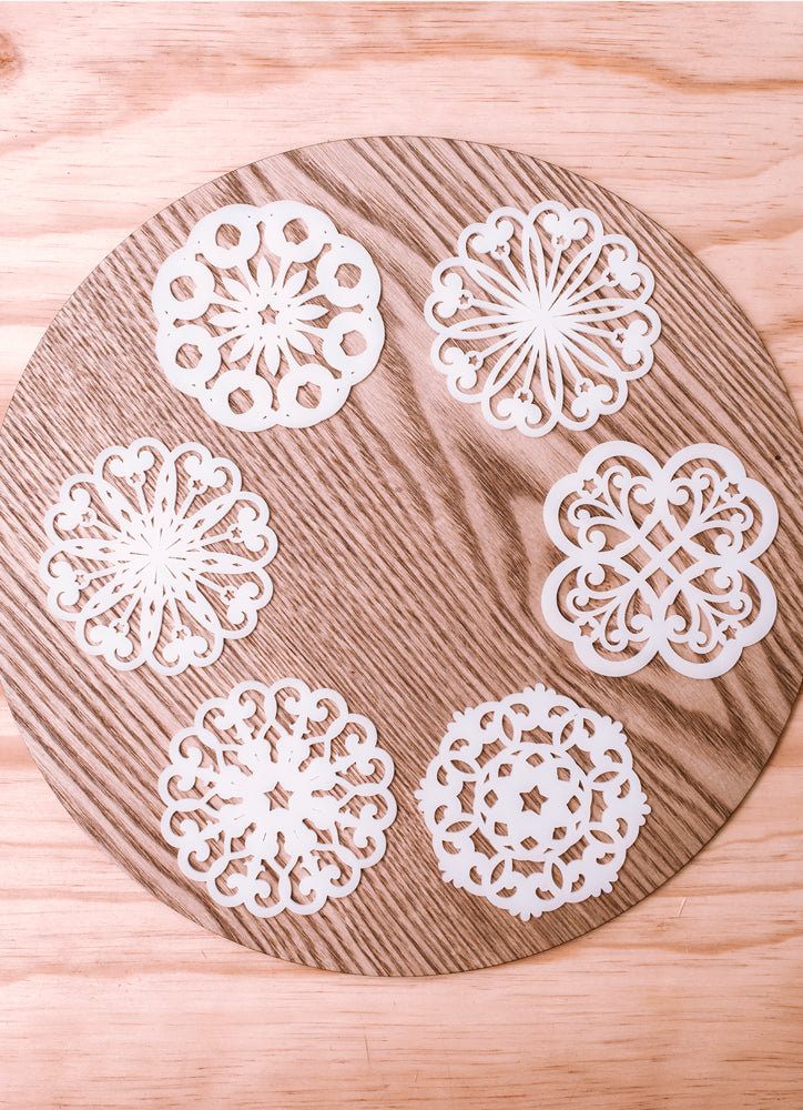 coaster snowflake (set of 6)