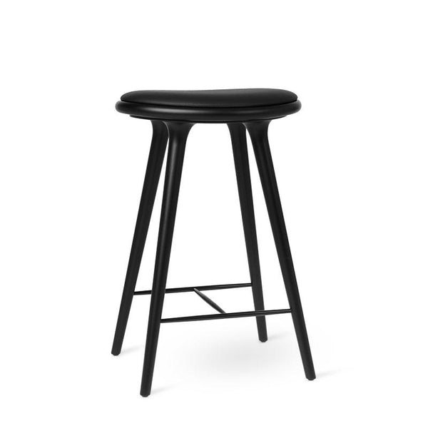 High Stool | Sort lakeret bøg | by Space Copenhagen