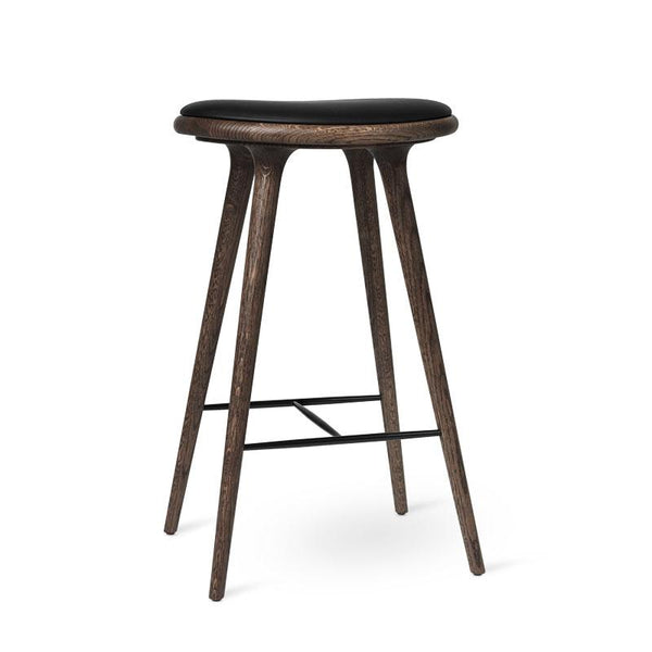 High Stool | Mørk lakeret eg| by Space Copenhagen