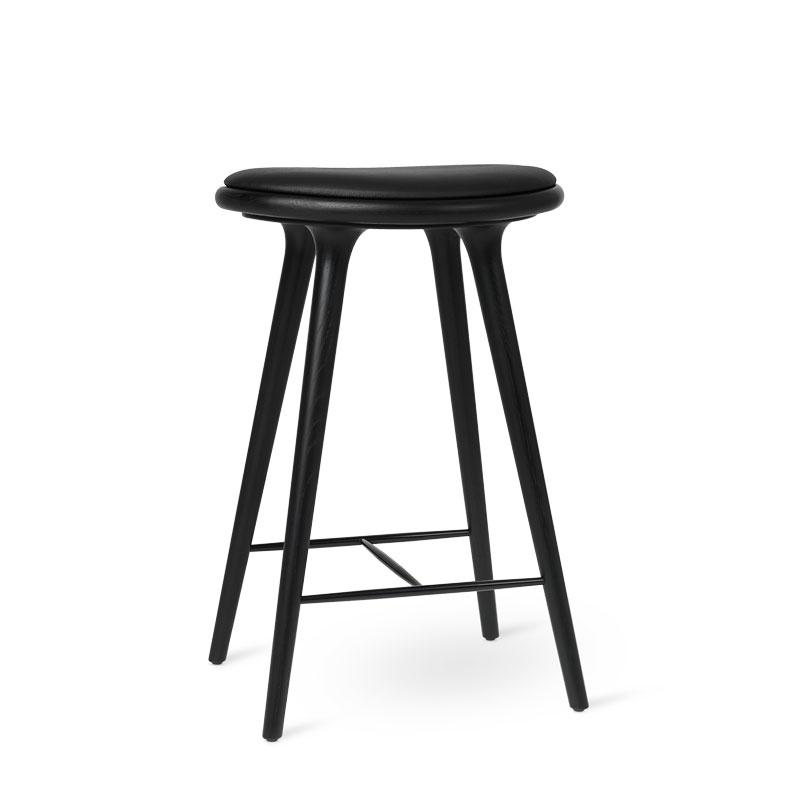 High Stool | Sort lakeret eg | by Space Copenhagen