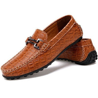 men loafers Low hit men help crocodile business leather shoes