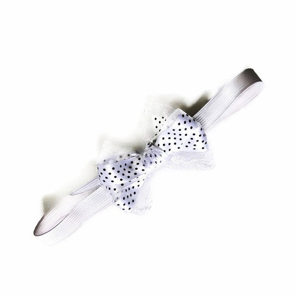 Baby headband with bow - size newborn-24 months