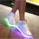 USB Charging 7 Colors Womens Casual Led Sneakers Light Up Shoes
