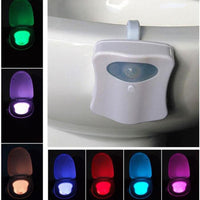 Wait Toilet Night Light LED Human Body Motion Activated Sensor The 6 Lamp Cover
