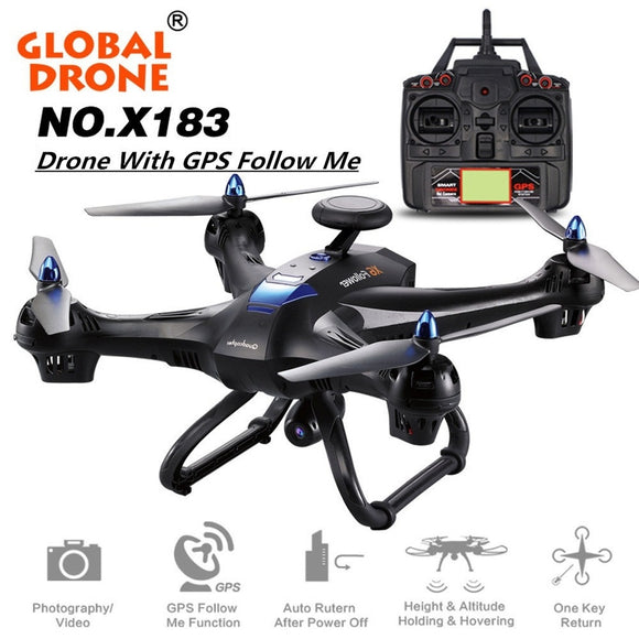 X183 Global Drone With GPS 4K HD FPV Camera Transmission Real-time Aerial Photography Quadcopter