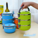 Thermal Insulated Lunch Box Bento Picnic Storage Mess Tin Food Jar Multilayer Stainless Steel