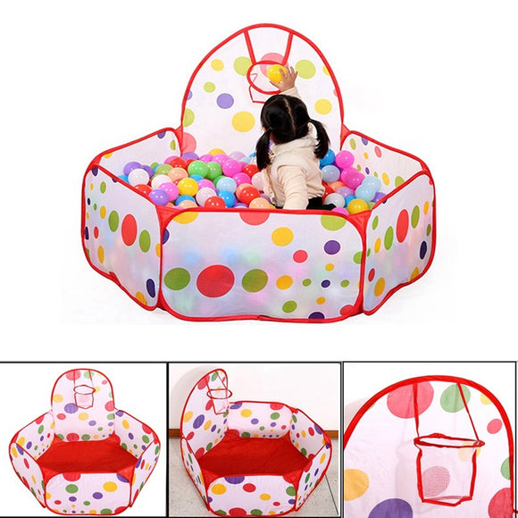 Children Kid Ocean Ball Pit Pool Game Play Tent Ball Hoop In/Outdoor