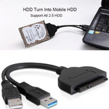 USB3.0 to 2.5inch HDD SATA Hard Drive Cable Adapter for SATA3.0 SSD&HDD