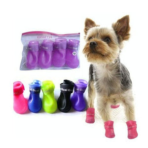 Pet Dog Shoes Candy Color Waterproof Booties Rubber Shoes Rain Boots