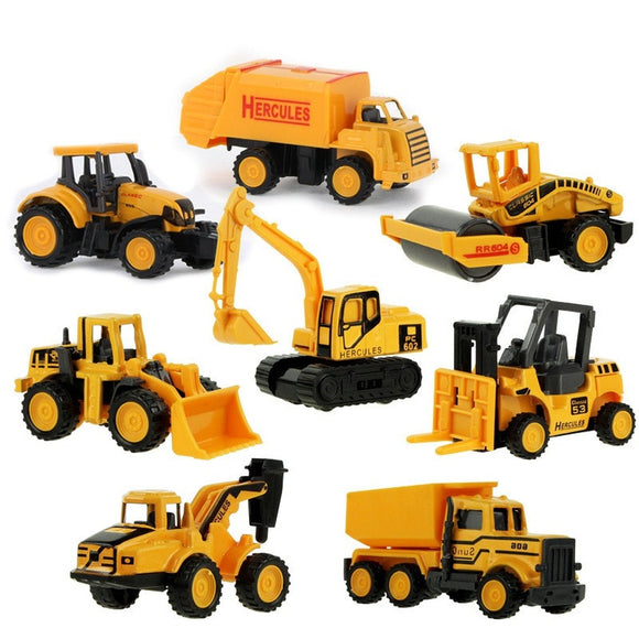 Diecast Mini Alloy Construction Vehicle Engineering Car Dump-car Dump Truck Model Classic Toy