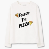 "Sweatshirt ""Follow The Pizza"""