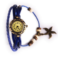 LNRRABC Strand Bracelets Vintage Multilayer Watch Leather Bracelets