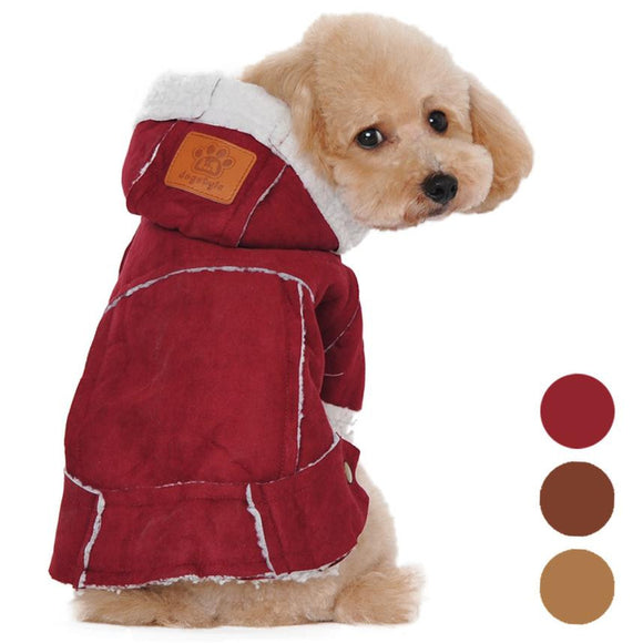 Dog fashion clothes pet winter Warm Cotton Blend jackets for Small dogs
