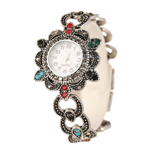 Bohemia Style Retro Resin Multicolor Charm Love Women Watch & Watch Jewelry Wholesale