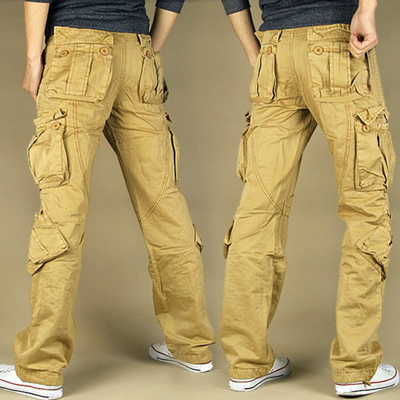 Cargo Pants Casual Multi-Pocket Military High Quality Baggy Long