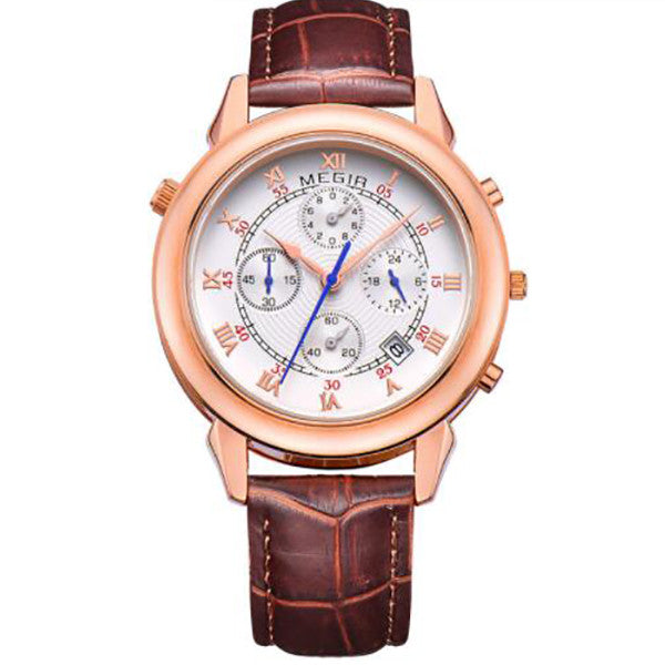 Original Military Watch Men Quartz Wristwatch Clock Genuine Leather Bracelet