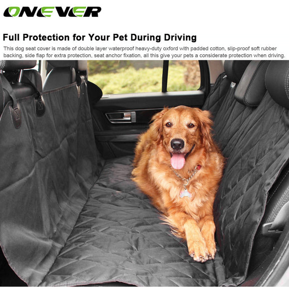 Onever Universal Car Seat Protector Cover Pet Dog Rear Seat  Backseat Cover Slip-proof Waterproof