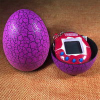 Funny Cracked Dinosaur Eggs Shaped Tumbler Electronic Virtual Cyber Digital Pets Machine Digital E-pet For Children