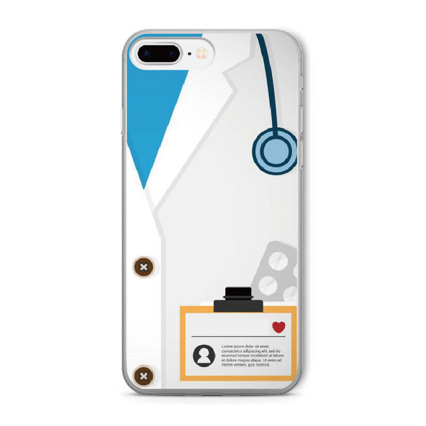 Nurse Medical Medicine Soft Clear iPhone 5 5S SE 6 6S 6Plus 7 7Plus 8 8Plus X Phone Cover Case