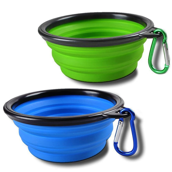 Collapsible Dog Bowl Silicone Foldable Expandable Pet Cup Dish