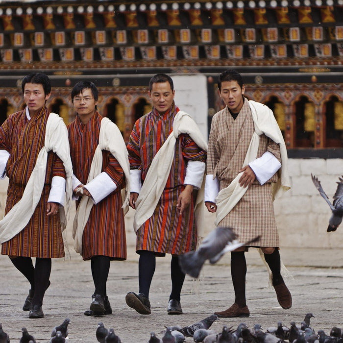 bhutan men in gho