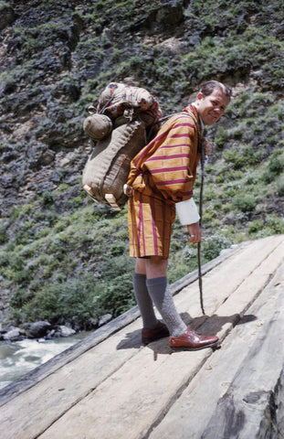 Burt Kerr Todd was probably the first American to visit Bhutan in 1951 and later introduced postage stamps to Bhutan.
