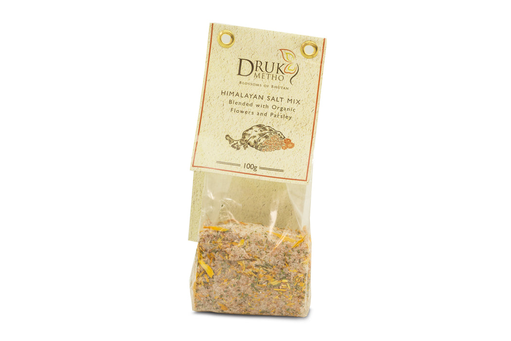 Himalayan Salt mix Blend with organic flowers and Parsley - Druksell.com