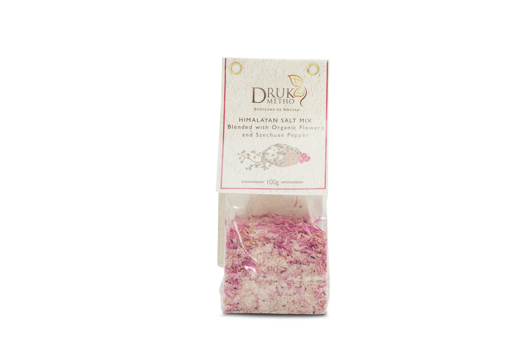 Himalayan salt mix Blended with Organic Flowers and Szechuan Pepper - Druksell.com