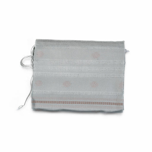 Traditional gray Scarf (Light Pale Blue Pattern) (4594011570294)