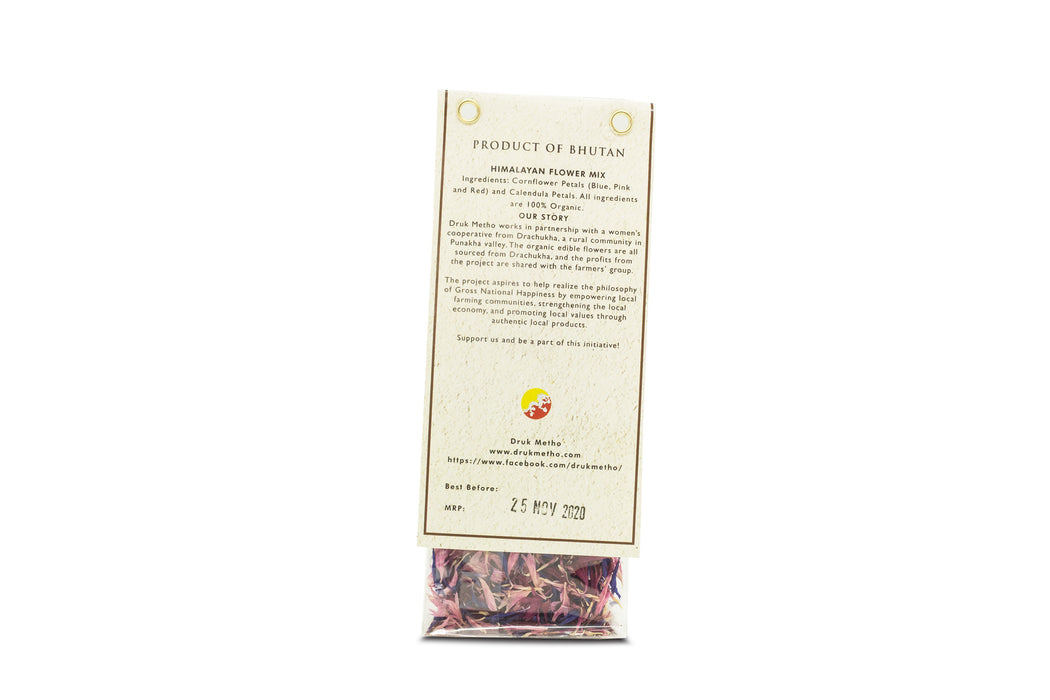 Himalayan Flower Mix Beautiful Blend of Organic Cornflower and calendula - Druksell.com