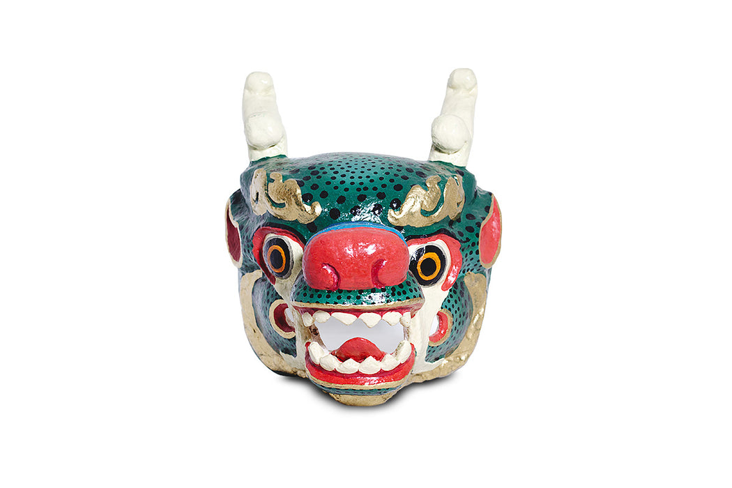 dragon masks from bhutan