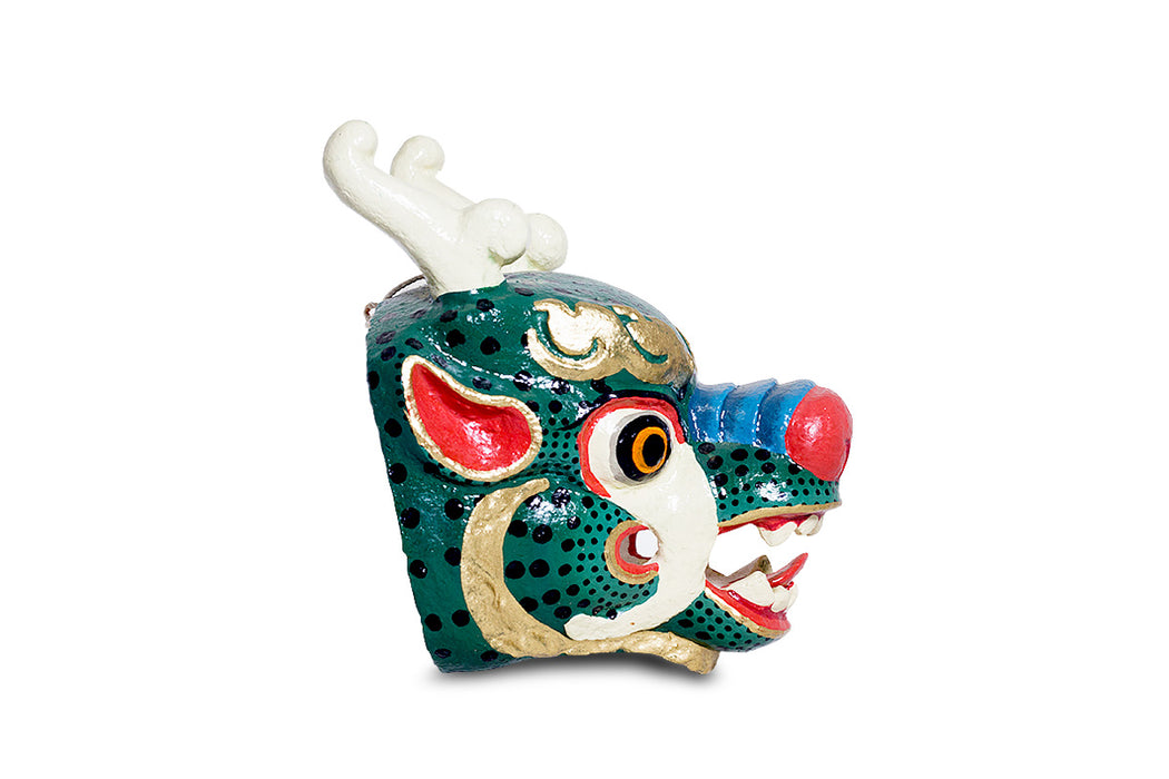 dragon mask from bhutan