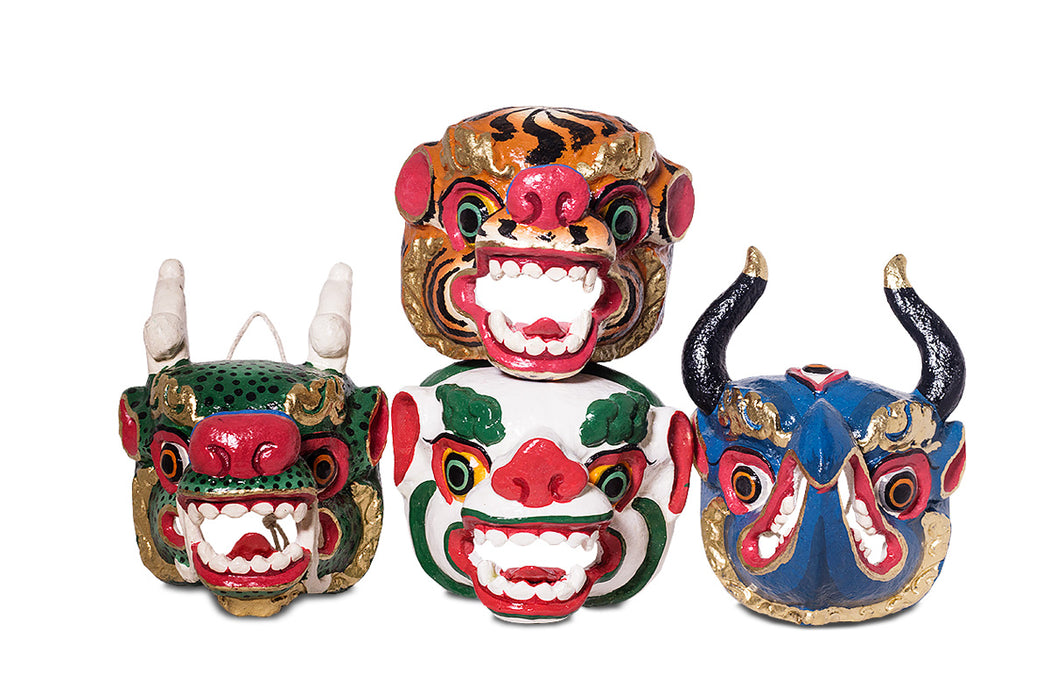 Tiger Traditional Bhutanese mask - Druksell.com