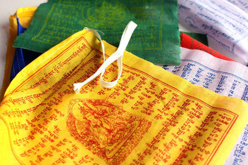 Windhorse multi colour Prayer flags (6x7 in) - Druksell.com
