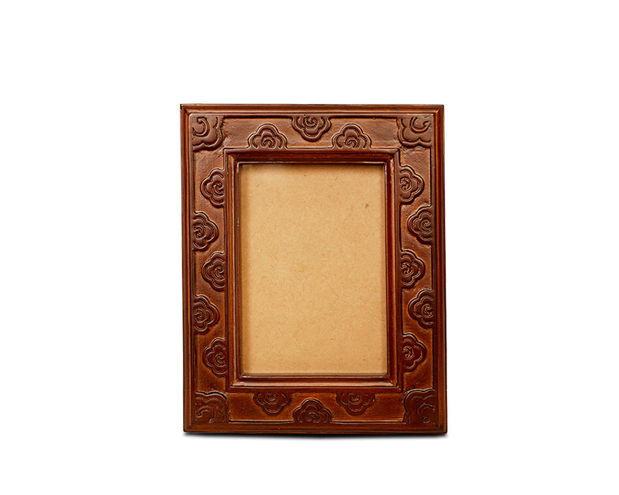 Bhutanese crafted photo frame with fretwork by Transcend artisan - Druksell.com