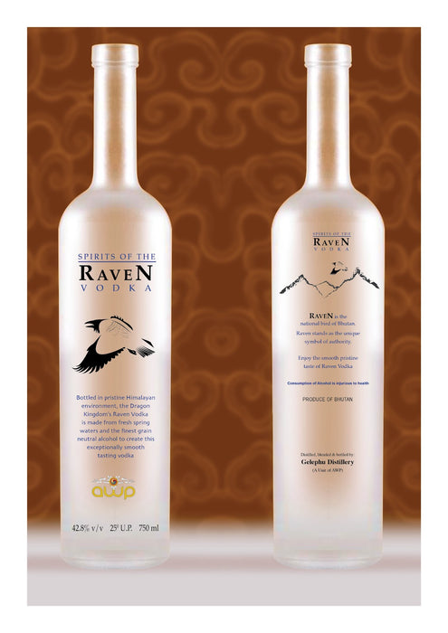 Raven Vodka Bhutan Vodka The Most Popular Vodka From Bhutan