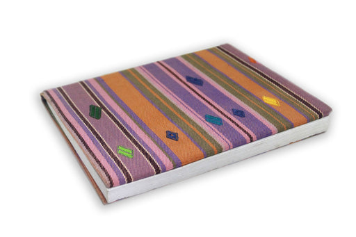 Bhutan made book covered in fabric