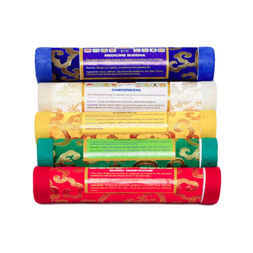 5 Element Bhutan Incense sticks set - Druksell.com