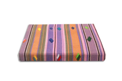 Book with Bhutanese fabric cover