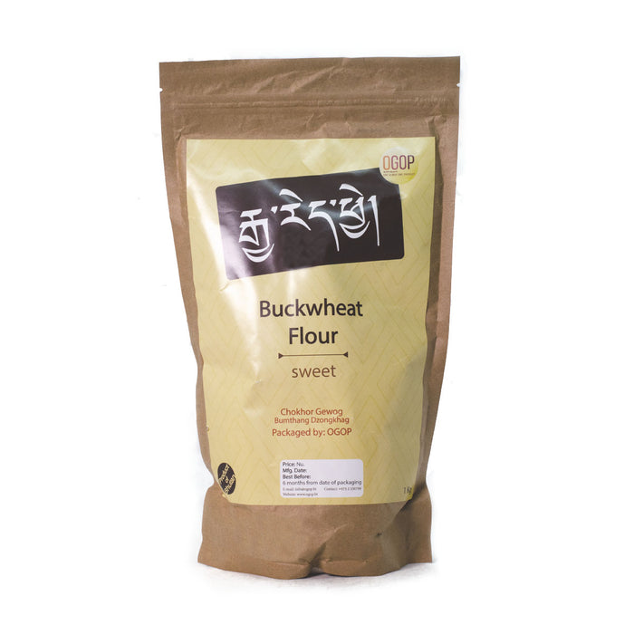 Bhutan sweet buckwheat flour | Druksell | Organic products from Bhutan