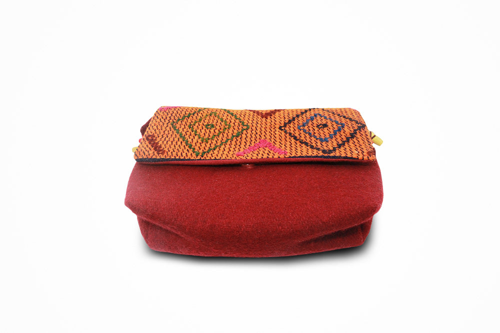Traditional women red purse (Yathra bag)
