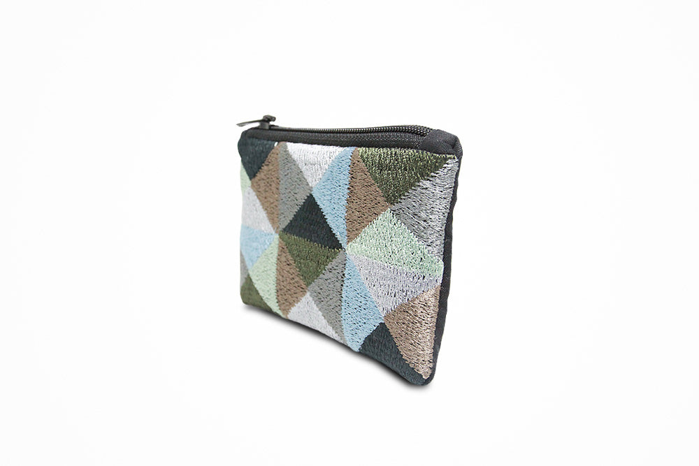 Zip wallet (green pattern) - Druksell.com