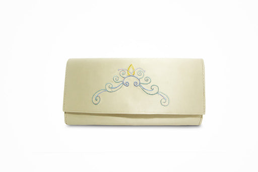 Nettle plant cream white wallet with traditional motif - Druksell.com