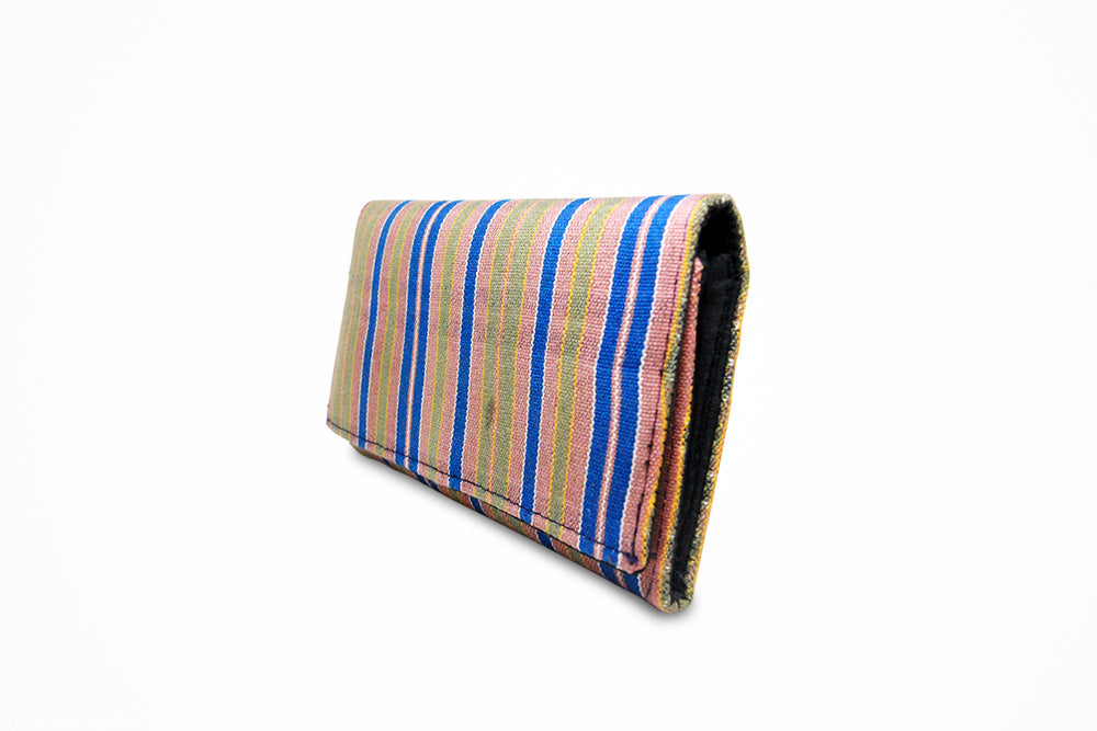 Handwoven striped ladies purse