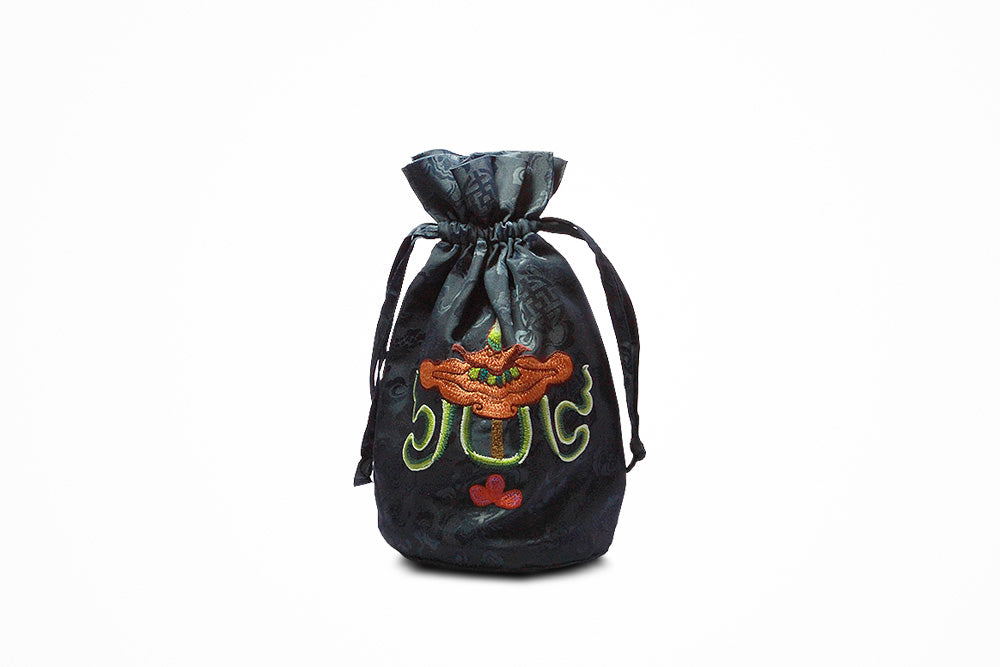 Bhutanese Traditional pouch (Dark blue)