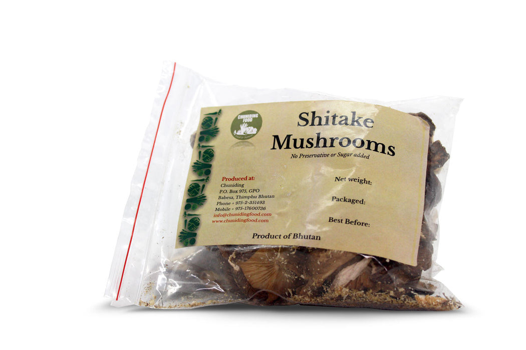 shitake mushrooms packed from Bhutan
